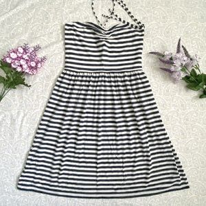 American Eagle navy striped dress